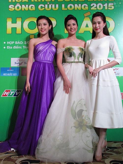 Hoa hậu Ngọc Hân đọ sắc với HH Thu Thảo và á hậu Huyền My - ảnh 1