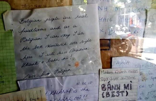 Khách Tây sau khi ăn bánh mì của cụ Lộc đã viết hàng trăm bức thư khen ngợi