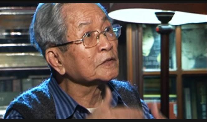 NSND Đình Quang trong một phim tư liệu về cuộc đời ông của kênh ANTV.