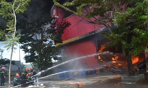 Cháy dữ dội tại công ty sơn ở Đà Nẵng - ảnh 2