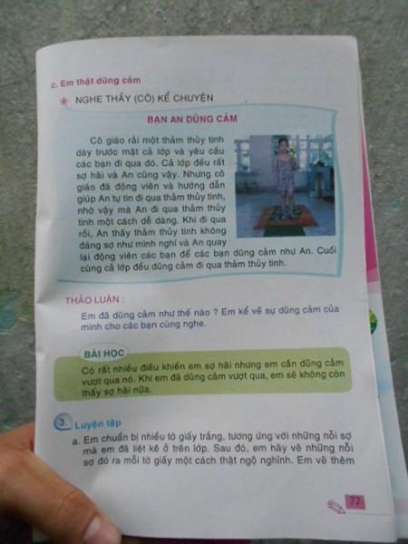 Dạy học sinh đi trên thủy tinh: Sách tái bản đã bỏ bài học này - ảnh 1