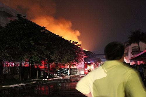 Cháy lớn trong khu công nghiệp Loteco - ảnh 4