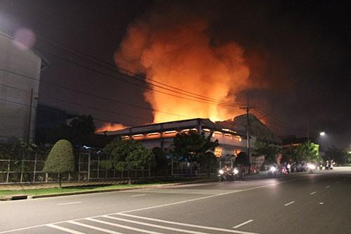 Cháy lớn trong khu công nghiệp Loteco - ảnh 6