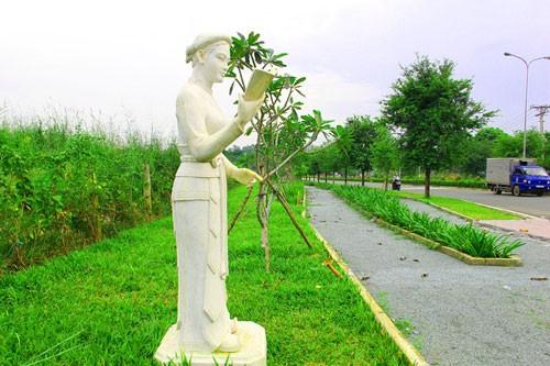 Vườn tượng danh nhân ở làng đại học - ảnh 12