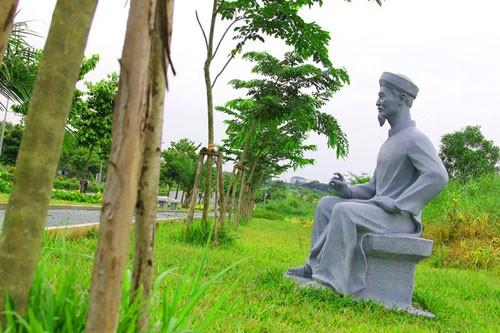 Vườn tượng danh nhân ở làng đại học - ảnh 6