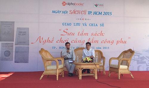 Hàng ngàn 'mọt sách' chen chân tại Ngày hội sách cũ TP.HCM 2015 - ảnh 1