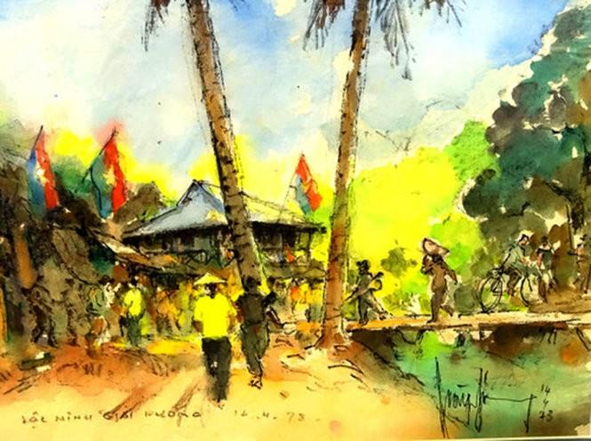 Tranh của họa sĩHuỳnh Phương Đông