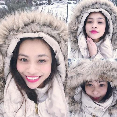 Gương mặt của Ý Nhi có rất nhiều nét giống nữ hoàng giải trí của showbiz Việt