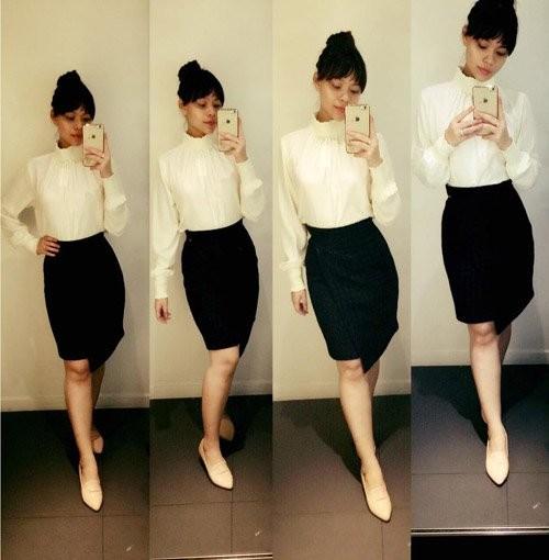 Vì yêu thích phong cách ăn mặc của Hà Hồ, Ý Nhi thường xuyên phối đồ theo style đó...