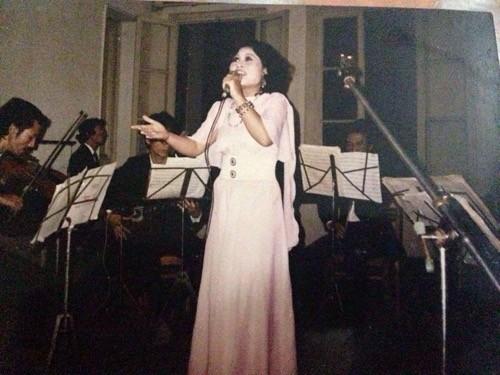 Nghệ sỹ Thúy Lan những năm tháng còn hoạt động âm nhạc. Ảnh: Đ.L.H.