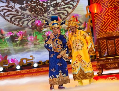 Hình ảnh Táo quân 2014: 'Ngọc Hoàng' Quốc Khánh một mình đóng cả hai vai