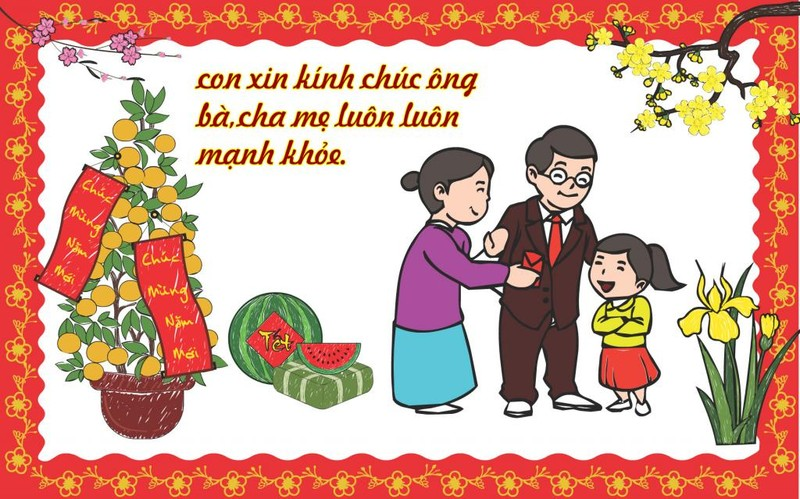 Những câu chúc tết hay nhất mẹ nên dạy cho bé để gửi tới ông bà họ hàng phần 2