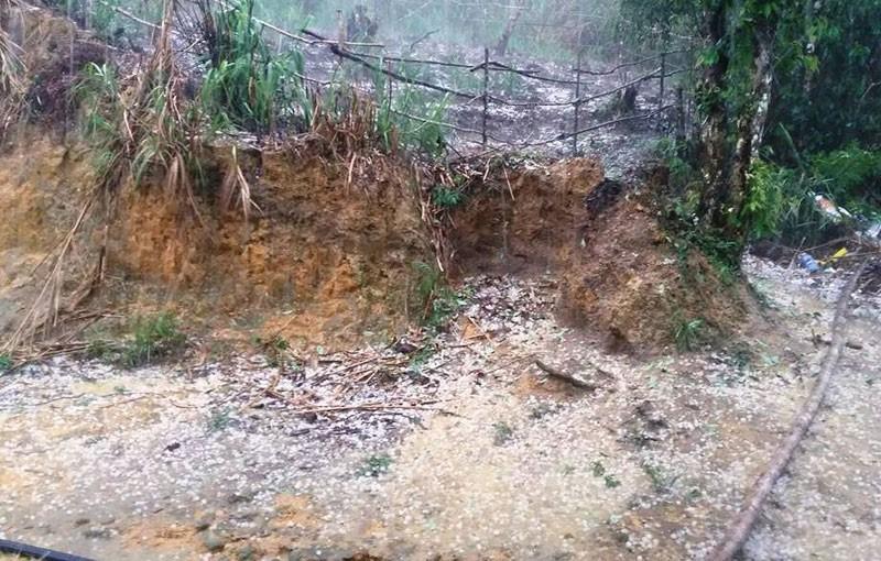 Xuất hiện mưa đá ở miền núi Quảng Nam - ảnh 1