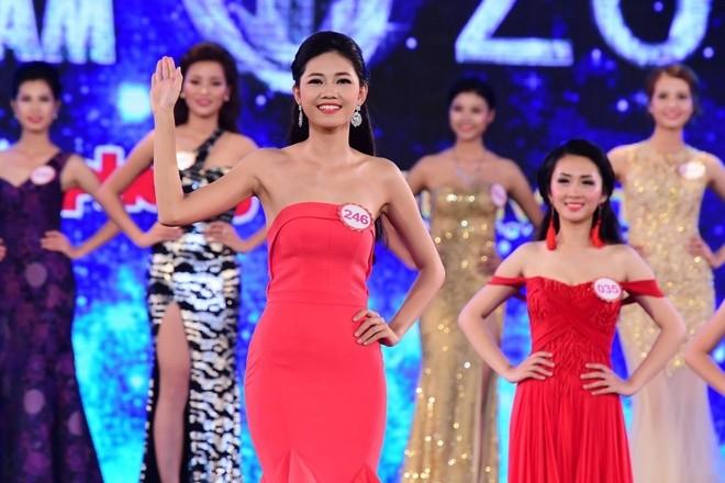 Em gái Á hậu Trà My sở hữu hình thể đẹp tại Hoa hậu Việt Nam