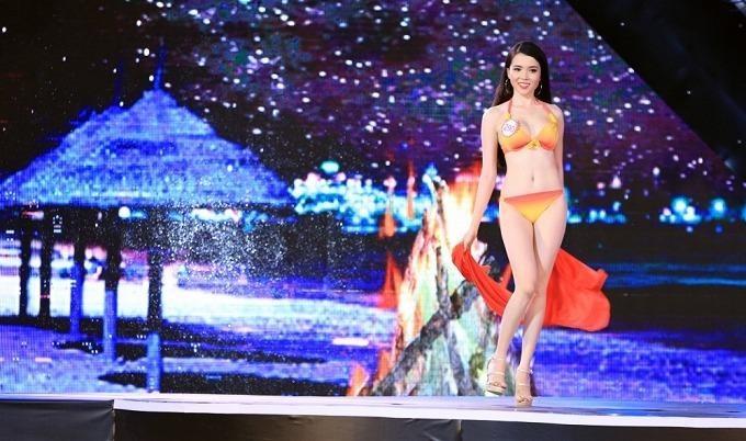 Cô là 1 trong 36 thí sinh xuất sắc nhất tham gia đêm chung kết Hoa hậu Việt Nam 2016