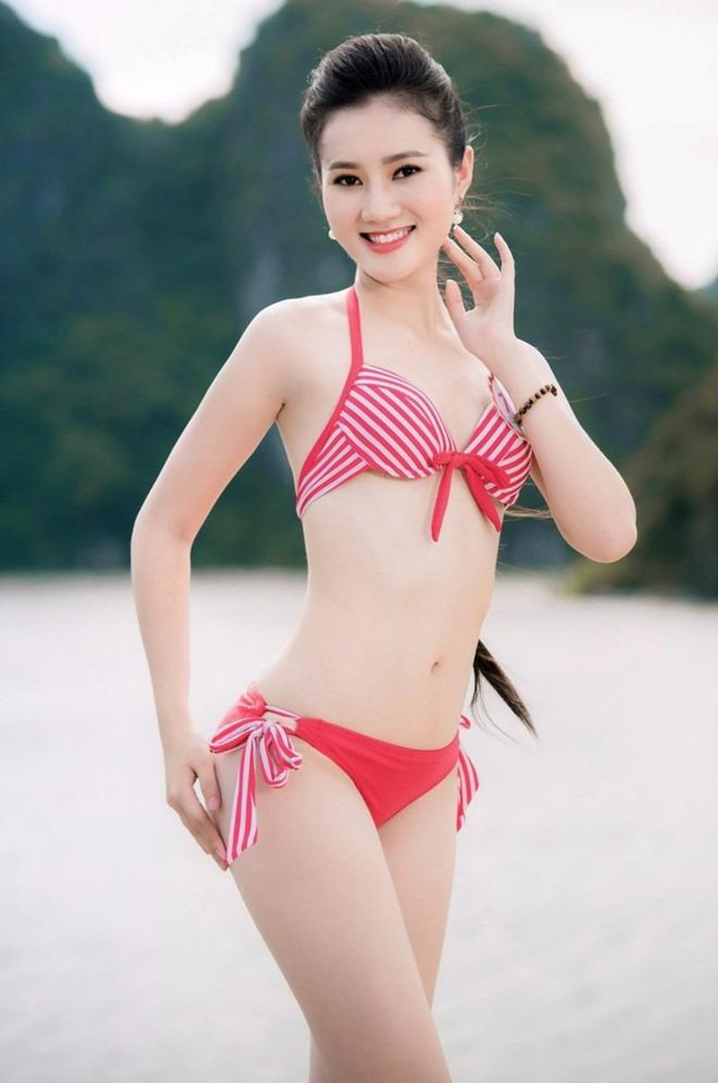 Hoàng Thị Quỳnh Loan hiện là sinh viên CĐ Sư phạm Huế. Cô sinh năm 1997, cao 1,71 m