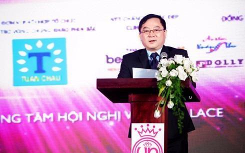Ông Lê Xuân Sơn – Tổng biên tập báo Tiền Phong, Trưởng ban tổ chức cuộc thi phát biểu tại một buổi họp báo. Ảnh VOV.