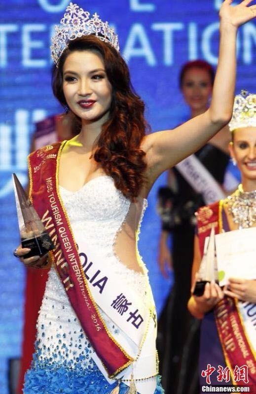Anu Namahir là thí sinh đầu tiên của Mông Cổ giành danh hiệu tại một cuộc thi nhan sắc quốc tế.  Ảnh Dân trí