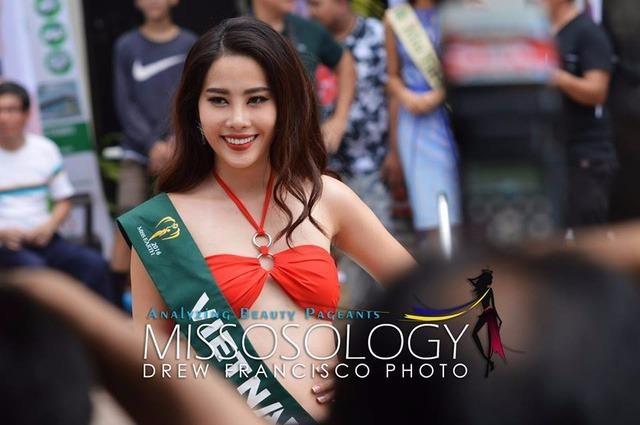 Nam Em, đại diện của Việt Nam tại cuộc thi Hoa hậu Trái đất 2016, sở hữu chiều cao 1,73 m, nặng 50 kg và số đo ba vòng là 85-60-90. Ảnh: DÂN TRÍ