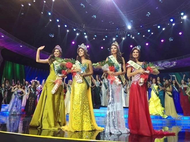 Top 4 Hoa hậu Trái đất. Ảnh ZING