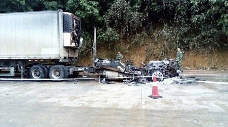 2 tài xế Việt bị chết cháy tại cửa khẩu Trung Quốc - ảnh 1