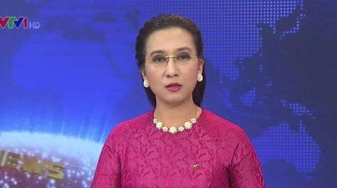 BTV Vân Anh là người giữ sóng bản tin Thời sự 19h của VTV trong nhiều năm. Ảnh ZING