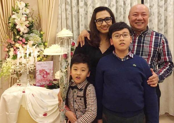 Vợ chồng BTV Vân Anh có hai cậu con trai. Ảnh NGÔI SAO/VIETNAMNET