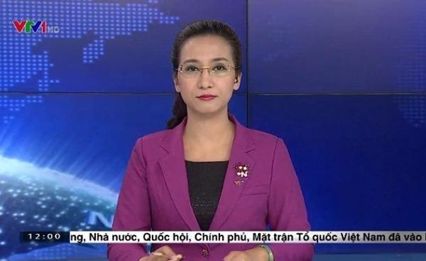 Vân Anh là gương mặt quen thuộc trên sóng trực tiếp của bản tin 'Thời sự' lúc 19h. Ảnh NGÔI SAO