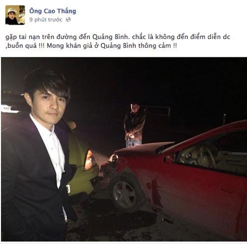 Sao việt gặp tai nạn,Tấn Beo,Hoàng Yến,Ông Cao Thắng