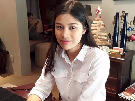 Người đẹp trong một lần trả lời phỏng vấn báo Pháp Luật TP.HCM