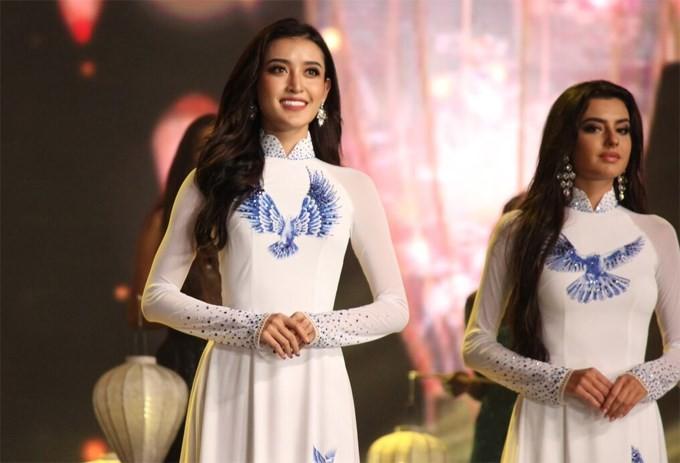 Huyền My dừng chân ở top 10 Hoa hậu Hoà bình Thế giới - ảnh 3