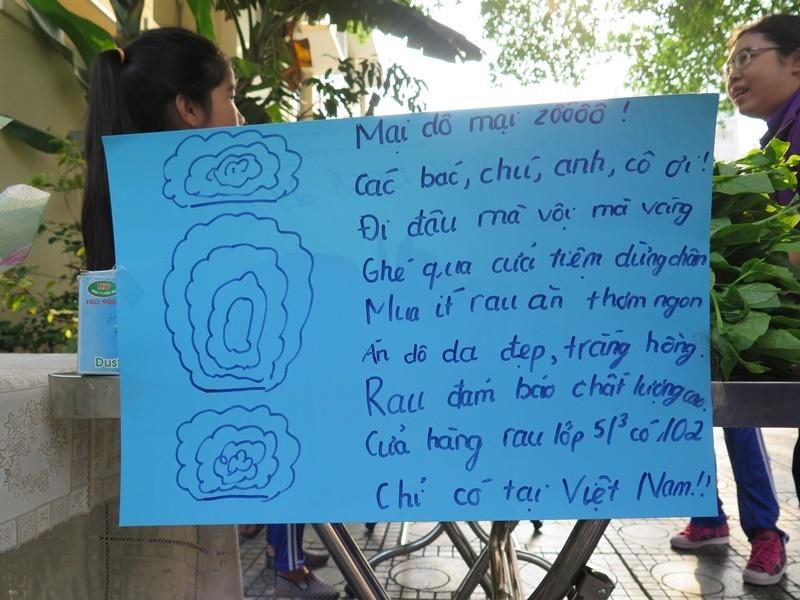 Độc đáo: Nhộn nhịp hội chợ rau sạch của học sinh tiểu học - ảnh 10