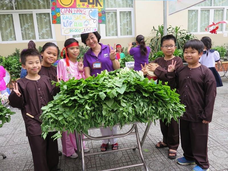 Độc đáo: Nhộn nhịp hội chợ rau sạch của học sinh tiểu học - ảnh 12