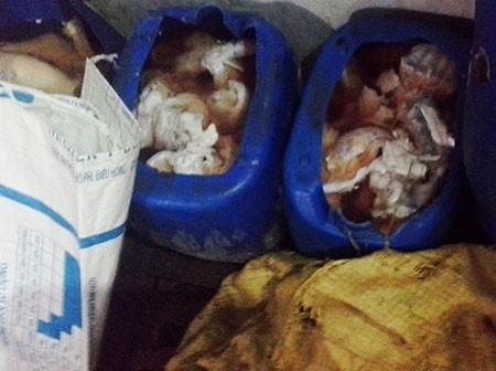 Phát hiện 14,6 tấn sản phẩm động vật không nguồn gốc - ảnh 2