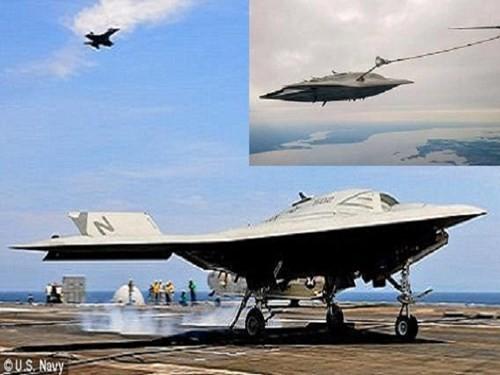 UCAV tàng hình X-47B của Mỹ tự động tiếp liệu thành công - ảnh 1
