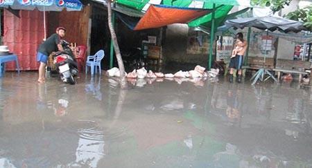 Mưa lớn, nhiều tuyến phố ở Cần Thơ ngập nặng - ảnh 9