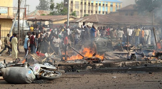 Nhiều vụ đánh bom tự sát xảy ra ở Nigeria gây thương vong nghiêm trọng. Ảnh: AP