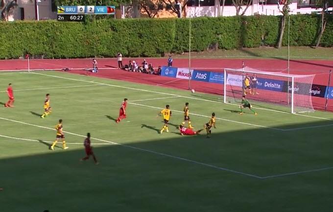 U23 Việt Nam 6-0 U23 Brunei: Hiệp 1 mờ nhạt, hiệp 2 bùng nổ - ảnh 12