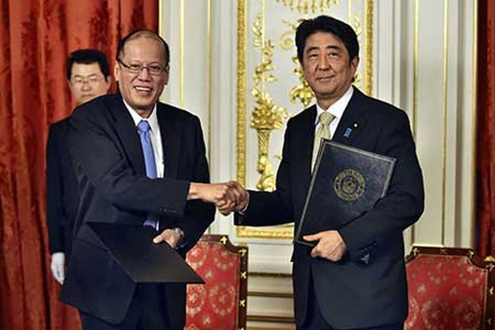 Abe-Aquino cùng phản đối Trung Quốc - ảnh 1