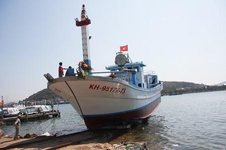 Chạy thử tàu cá đầu tiên đóng từ vốn vay theo Nghị định 67 - ảnh 1