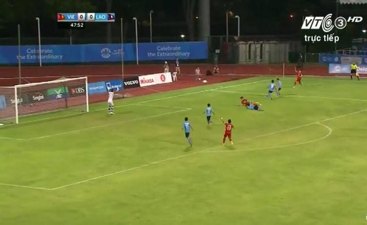 Vất vả vượt qua U23 Lào, U23 Việt Nam đòi lại ngôi đầu bảng - ảnh 11