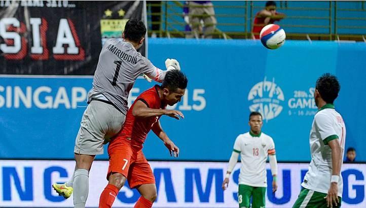 U-23 Singapore- U-23 Indonesia 0-1: Chủ nhà bị loại - ảnh 1