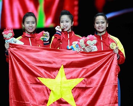 Chùm ảnh bộ 3 hotgirl Việt Nam giành HCV Taekwondo - ảnh 13