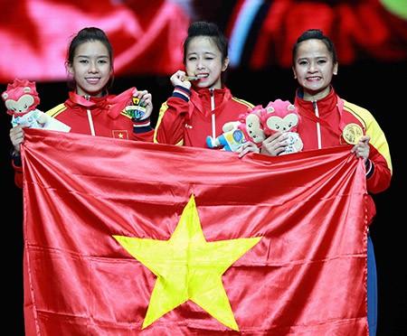 Chùm ảnh bộ 3 hotgirl Việt Nam giành HCV Taekwondo - ảnh 14