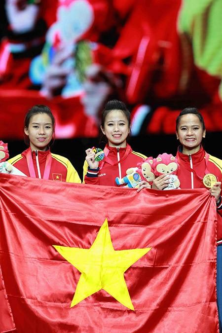 Chùm ảnh bộ 3 hotgirl Việt Nam giành HCV Taekwondo - ảnh 15