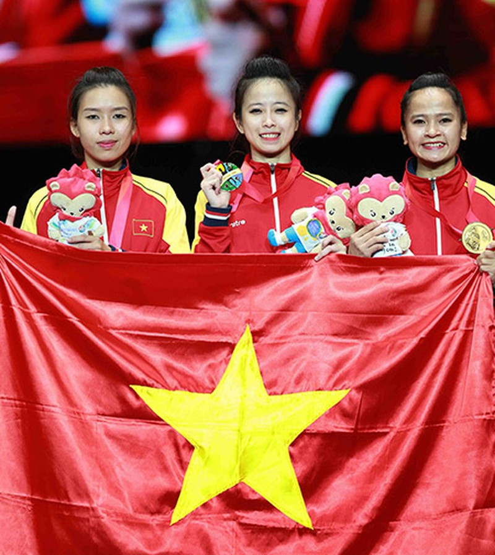 Chùm ảnh bộ 3 hotgirl Việt Nam giành HCV Taekwondo - ảnh 16