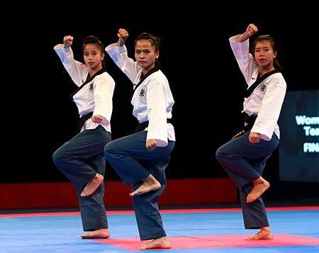 Chùm ảnh bộ 3 hotgirl Việt Nam giành HCV Taekwondo - ảnh 2