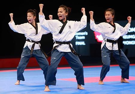 Chùm ảnh bộ 3 hotgirl Việt Nam giành HCV Taekwondo - ảnh 5
