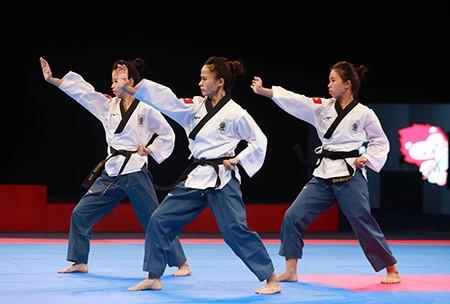 Chùm ảnh bộ 3 hotgirl Việt Nam giành HCV Taekwondo - ảnh 8