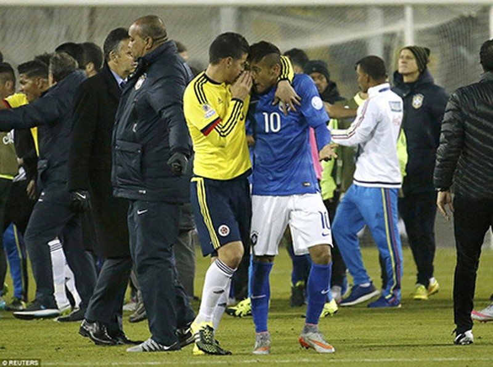 Neymar 'nổi điên', trận Brazil - Colombia kết thúc trong bạo lực - ảnh 6
